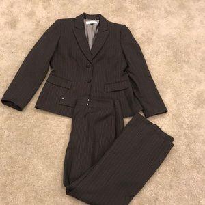 Tahari pin-strip suit